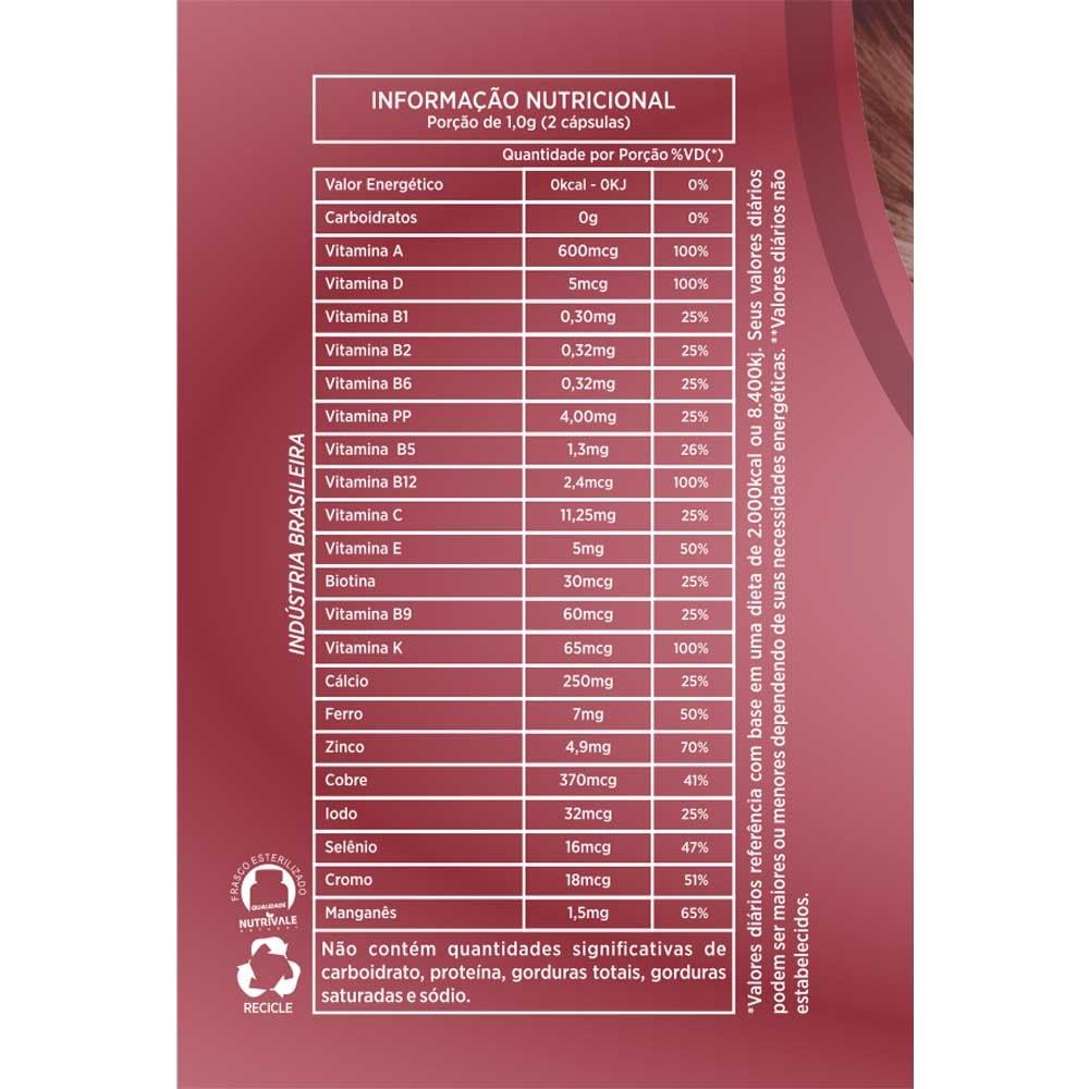Nutrihair Cabelos e Unhas 500 mg