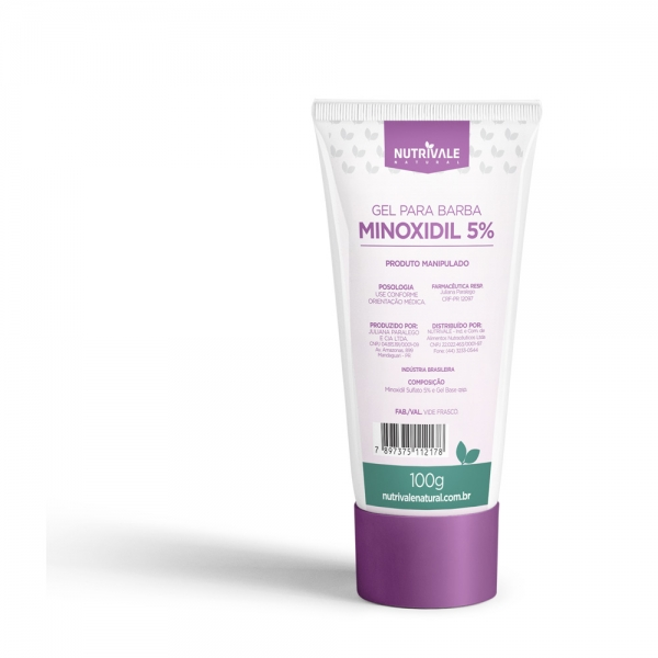 Minoxidil 5% Nutrivale Natural 100 gr