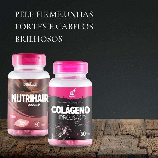 Kit Colágeno Hidrolisado e Nutrihair