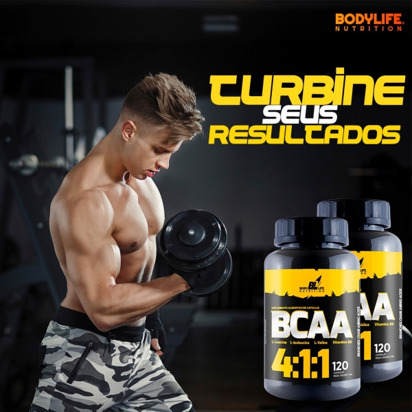 BCAA 4:1:1 BodyLife 120 Cápsulas by Nutrivale