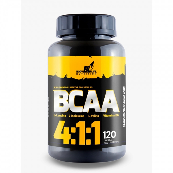 BCAA 4:1:1 BodyLife 120 Cápsulas by Nutrivale