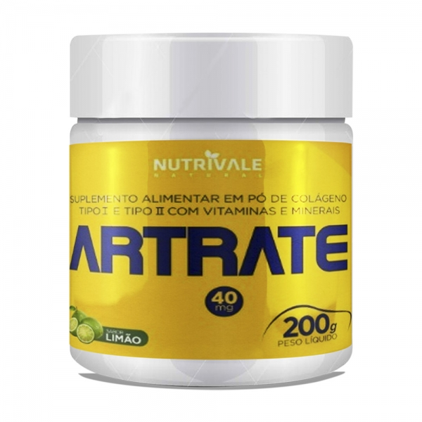Artrate em Pó 200 gramas Colágenos Tipo 1 e 2